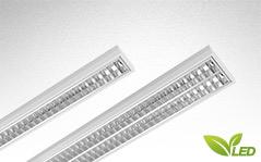 LUX LED - LED Rasterleuchte, LED Anbaulauchte. Ideal für den Einsatz in Büros, Bildungseinrichtungen, Geschäfts- und Gesellschaftsräumen mit hohen Ansprüchen an die Blendungsreduzierung.