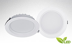 ARO LED Downlight / Einbauleuchte mit umschaltbarer Lichtfarbe (Kaltweiß, Normalweiß, Warmweiß) und geringer Einbautiefe.